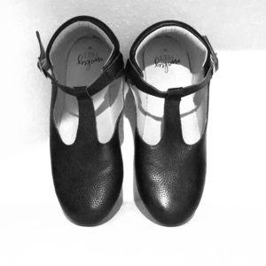 Monkey feet T strap shoes